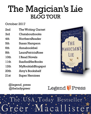 The Magician's Lie paperback Blog Tour Banner jpeg